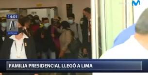 La familia presidencial llegó a Lima para participar en la asunción de mando