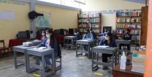 35 estudiantes retornaron a la semipresencialidad y 21 reciben educación a distancia en I. E. S. Ciro Alegría de Yomblón - Pizuquia