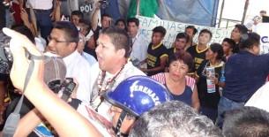 Audiencia regional en Bagua terminó de manera accidentada