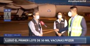 Óscar Ugarte: Empezaremos a vacunar a los adultos mayores con dosis de Pfizer